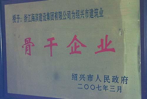 2007年绍兴市建筑业骨干企业