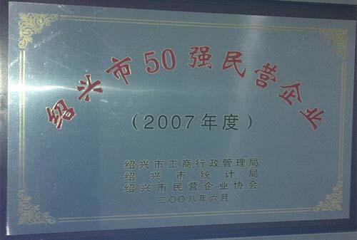 2007绍兴市50强民营企业