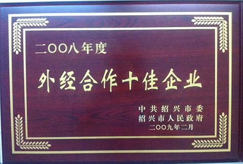 2008绍兴市外经合作十佳企业